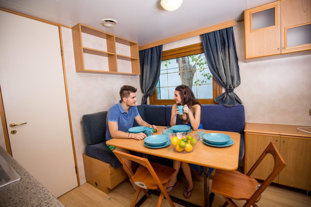 Master Bedroom Kitchenette camping mobile homes misano: camping with bungalows in misano